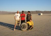 The crew on the playa